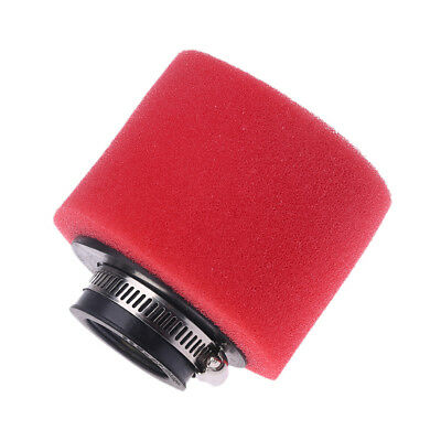 Red Washable Motorcycle Double Sponge Air Filter Cleaner Straight Neck 35mm