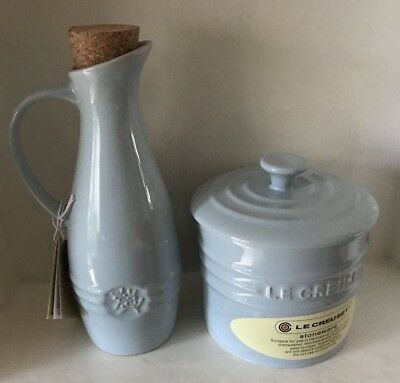 Le Creuset Olive Oil Jar & Lidded Jar- Powder Blue(NEW)