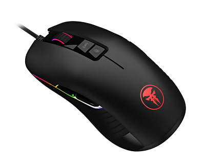 RGB Gaming Mouse USB Wired Optical Mice Adjustable 10000 DPI 9 Keys Ergonomic PC