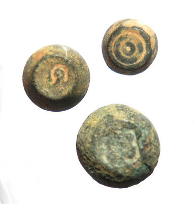 Byzantine commercial weights Semuncia and 2 and 1 Sextula 7-10 century