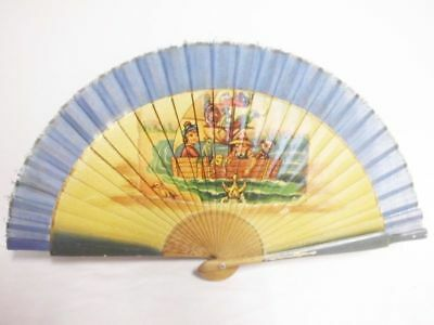 hübscher bedruckter Kinder-Fächer-vintage-60's-lovely printed children fan