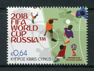 Cyprus 2018 MNH FIFA World Cup Football Russia 2018 1v Set Soccer Sports Stamps