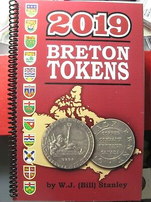 Catalogue Breton Tokens 2019 compiled by W.J. (Bill) Stanley Book Canada