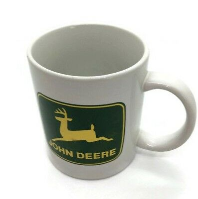 JOHN DEERE Coffee Cup Mug Licensed Product Gibson White W/Green