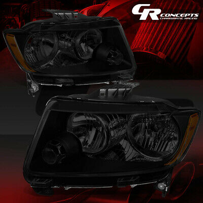 Fit 11-13 Jeep Grand Cherokee WK2 Pair Smoked Housing Amber Side Headlight//Lamps