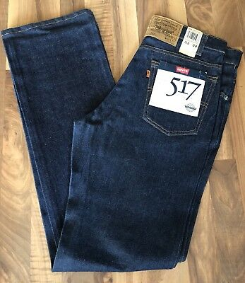 Men's 517 Bootcut Vintage Deadstock Levi Jeans Size 33x32, Made In USA!