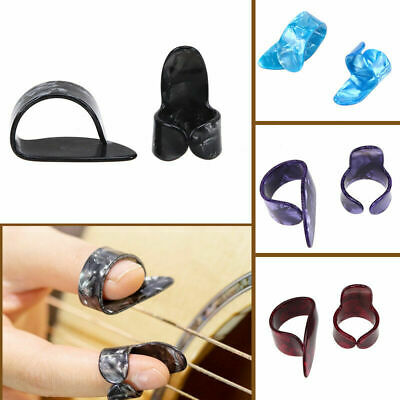 1 Thumb + 1 Finger Acoustic Nail Celluloid Jim Guitar Banjo Thumb Picks Plectrum