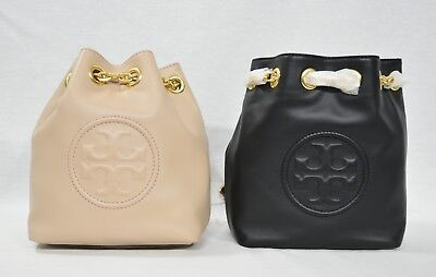 9978864d4d2 NWT Tory Burch Fleming Mini Backpack in Leather. Black Color OR New Mink  Color