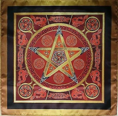 Wicca magic tablecloth Firestar - The Magic Power of Fire Small size 16x16