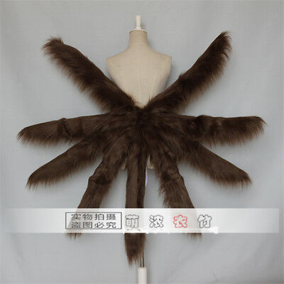 Anime Azur Lane Kaga Fancy TailNine-tailed Fox CollectionCosplay Prop Plush Tail