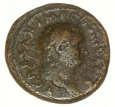Authentic Ancient Roman Bronze Coin (AE As) of Titus as Caesar 77-78 AD