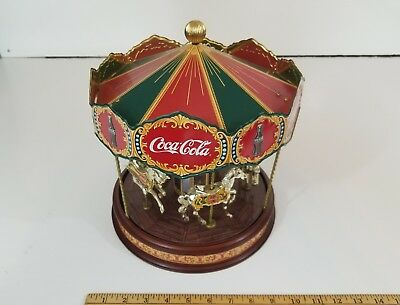 Rare Limited Edition Coca Cola Musical Carousel 1997 Franklin Mint!! Fast Ship!!