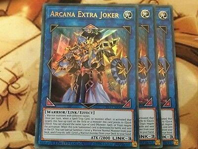 Limited Edition NM YuGiOh! CT15-EN006 Ultra Rare Arcana Extra Joker