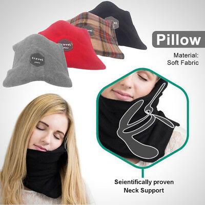 1x Soft Neck Support Flight Sleep Headrest Nap Scarf Portable Travel Pillow Gift