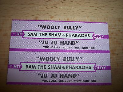 "2 Sam The Sham Wooly Bully / Ju Ju Hand Jukebox Title Strip CD 7"" 45RPM Records"