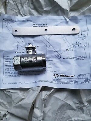 Haws SP260 Chrome-Plated Brass Stay-Open Ball Valve