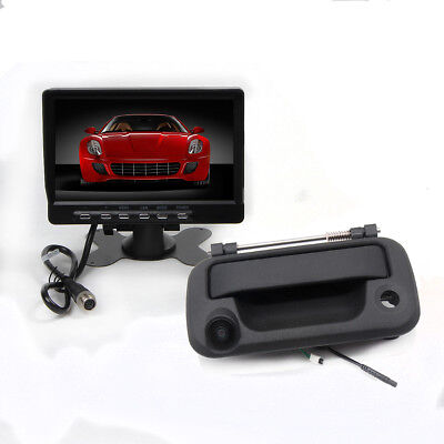 For F150 2004-2014 HD Tailgate Handle Backup Camera+7'' TFT LCD Monitor Kit