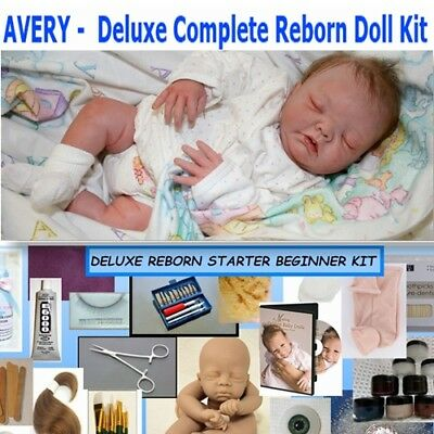 """Reborn complete Deluxe doll kit to make your own baby Avery 20"""" Unpainted vinyl"""