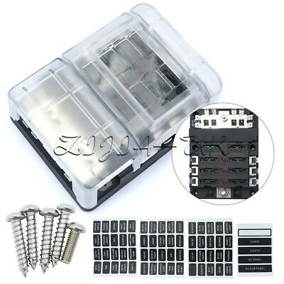 6-Way Blade Fuse Box Holder Made Of Environment Friendly PBT Material Black