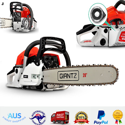 "62cc Giantz Commercial Petrol Chainsaw 20"" Bar Yard Garden Tree Pruning Outdoor"