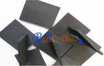 5pcs 99.99% Pure Graphite Electrode Rectangle Plate Sheet 50*40*3mm New