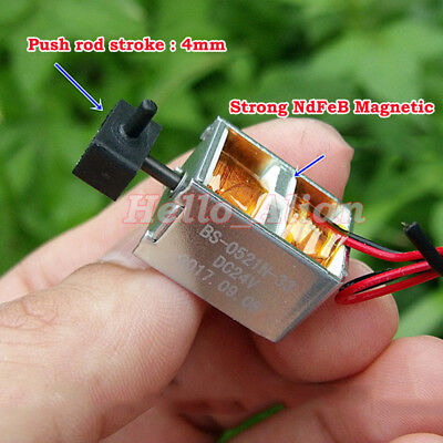 Micro DC24V Solenoid Electromagnet Electric Magnetic Push Pull Self-Holding Type