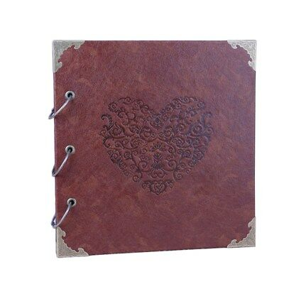 High-grade Retro Photo Album Leather Stamping Handmade DIY Gift Albums 16 Inch