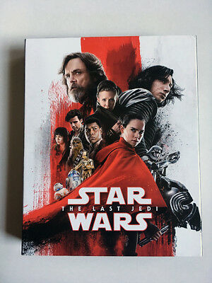 Star Wars: The Last Jedi (Blu-ray/DVD, 2018, 4-Disc Target Exclusive w/ Book)