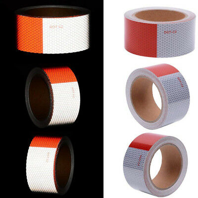 9m X 50mm High Intensity Safety Reflective Tape Red&White Adhesive Ultra Bright