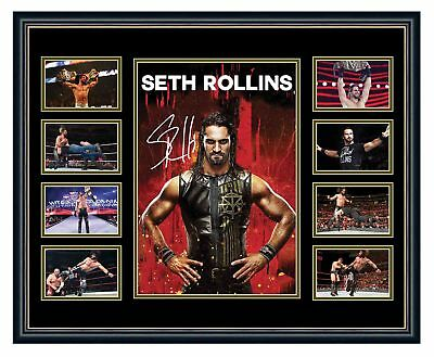 Wwe Seth Rollins Signed Limited Edition Framed Memorabilia