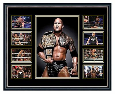 Wwe The Rock Dwayne Johnson Signed Limited Edition Framed Memorabilia