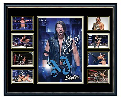 Wwe Aj Styles Signed Limited Edition Framed Memorabilia