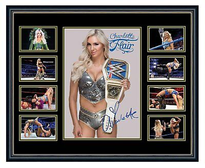 Wwe Charlotte Flair Signed Limited Edition Framed Memorabilia