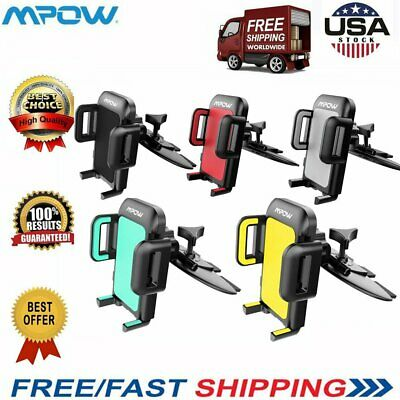 Mpow Clip Car Mount Holder Stand 360 Degree For GPS iPhone X/8/7 Samsung S7 S8