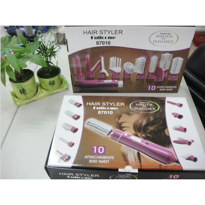 10 In 1 Professional Hair Styler Styling Blow Dryer Curling Straightening w/Comb