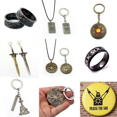 Game Dark Souls III Alloy Keychain/ Necklace/Ring/ Badge Pendant Gift for Fans