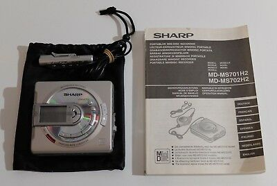 SHARP MD-MS701H Minidisc Portable Recorder MD Player