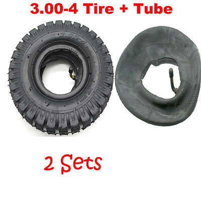 2x Mini Pocket ATV TYRE + TUBE 3.00-4 Tyre 9x3.5-4 Quad Wheel Front Rear Tire
