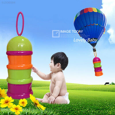 0D40 Travel Type Baby Food Cereal Cute Milk Powder Container Feeding Boxes Case