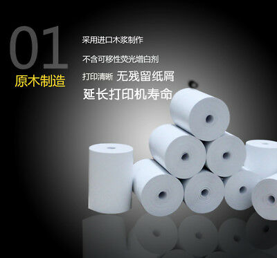 57x30mm Thermal Receipt Paper Roll for Mobile POS 58mm Thermal Printer Parts XW