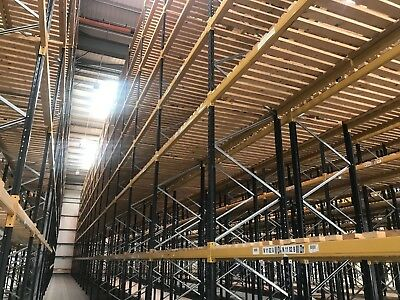 10 Bays Of Link 51 Heavy Duty Racking Frames 4mx900mm Beams 2250mm x 2000kg