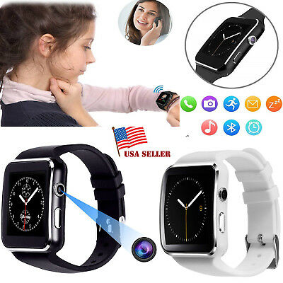 X6 Curved Screen Bluetooth Smart Wrist Watch Phone for Samsung/iPhone/Android*US