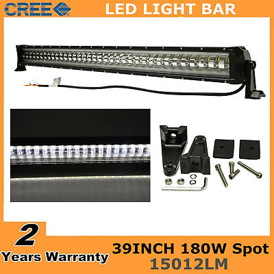 "39""inch 180W Flashing CREE LED Light Bar Spot Driving Fog Lamp Offroad SUV 38/40"