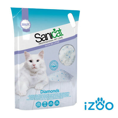 SANICAT DIAMONDS 30 o 60 LT LETTIERA PER GATTI NEUTRA SILICIO SABBIA GATTO GEL