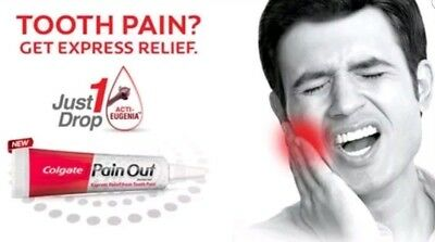 New Colgate Pain Out Faster tooth ache pain Relief dental care gel Eugenia 10ml