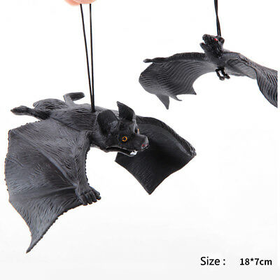 Halloween Fake Rubber Bat Hanging Toy Prop Party Decoration
