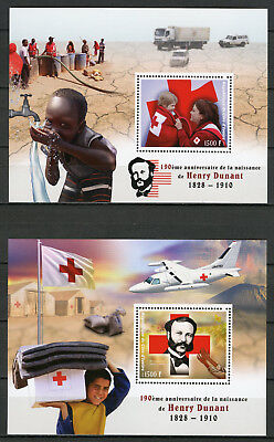 Ivory Coast 2018 MNH Henry Dunant 190th Anniv Red Cross 2x 1v S/S Medical Stamps