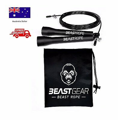 Speed Skipping Rope by Beast Gear – Fitness, Speed, Skipping & Fat Loss