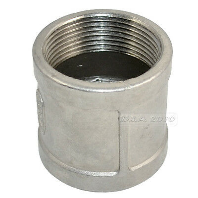 "1.5"" 1 1/2"" Female to Female Stainless Steel 304  Threaded Coupling Pipe Fitting"