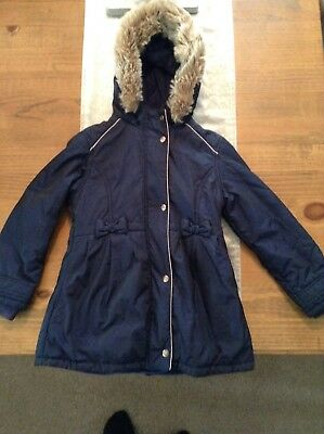 3cd7ce8ae Ted Baker Girls Coat Age 10 Navy Blue With Shimmer Effect